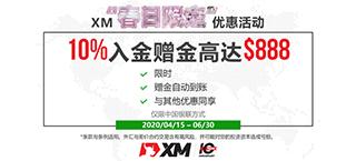 XM春日限定:10%入金赠金!