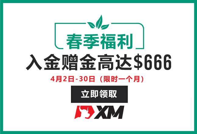 XM春季福利——高达$666赠金等你来拿!
